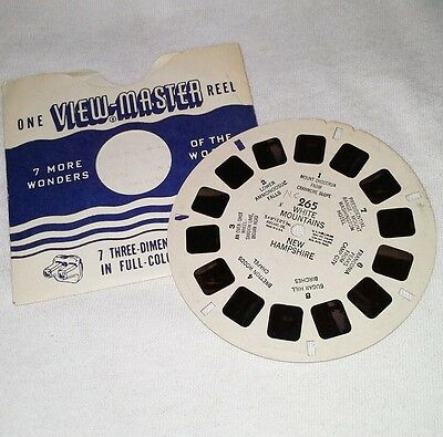 1940s Viewmaster 3D Stereo 265 reel White Mountains New Hampshire photos Sawyers