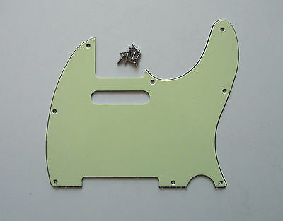 Mint Green Tele Style Guitar Pick Guard Scratch Plate Fits Telecaster Guitar
