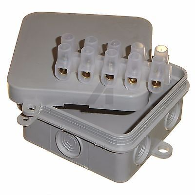 2 x Cable Wire Outdoor IP44 Junction Box 65 x 65 x 30mm CCTV Lighting Electrical