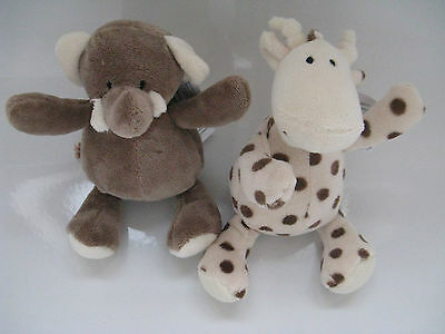 ELLI & RAFF CUDDLY SUPERSOFT TOYS FOR BABY ADORABLE FIRST FRIENDS 20cm LENGTH