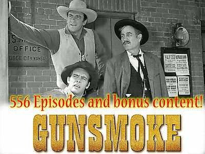 Gunsmoke Radio Show - OTR - 556 Episodes and Extras! - 9 MP3 CDs