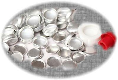 50 Fabric Cover Buttons 23mm FLAT Back Flatback Cabochon DIY with 1 free tool