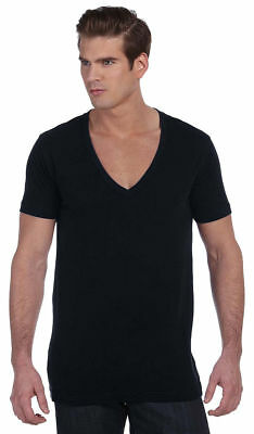 Bella+Canvas Mens Unisex Deep V-Neck T-Shirt Tee XS -2XL Men's/ Ladies. 3105