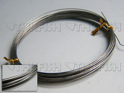 NEW!! 10m/11yard 60lbs Silver Stainless Steel Wire Leader Fishing Line