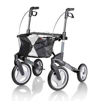 Topro olympos 4 wheel lightweight folding rollator outdoor walking aid frame