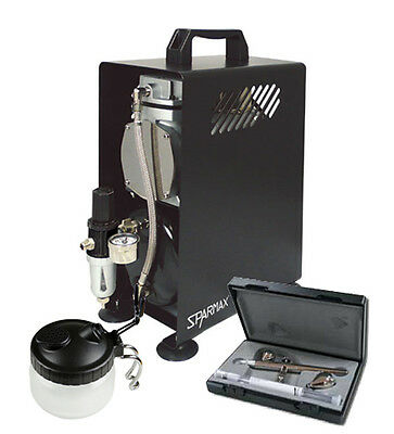 Professional Airbrushing Kit - Ultra 2 in 1 Airbrush & Sparmax 610H Compressor