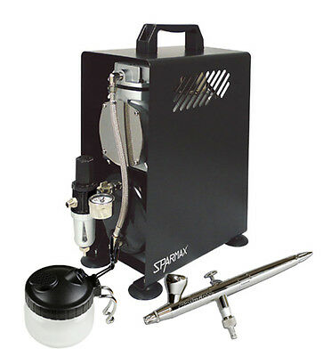 Premium Airbrushing Kit - Silverline Solo Airbrush & Sparmax 610H Compressor