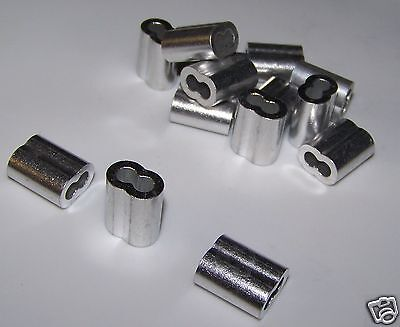 """5/32"""" Aluminum Cable Crimps/Sleeves (LOT OF 25) NEW"""