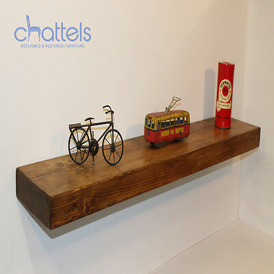 Reclaimed Chunky Floating Shelves Wall Shelf Wood Rustic Wooden