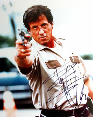 Sylvester Stallone ++ Autogramm ++ Rocky Balboa Rambo Autograph The Expendables