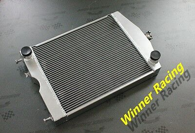 "56mm 2x1"" aluminum/alloy radiator Ford 2N/8N/9N tractor w/Ford 305 5L V8 engine"