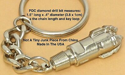 PDC Drill Bit Rig keychain Oil Well Jewelry Pendant oilfield trash tricone gift