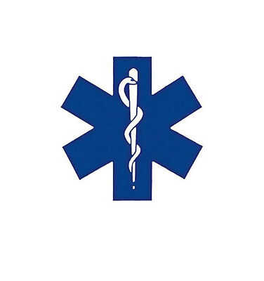 """Medic EMS Window Decal Paramedic Star of Life Adhesive Backed 3-1/4"""" X 3-1/4"""""""