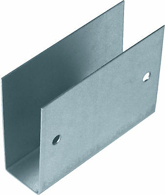 6 Single Mortice Fence Brackets (25mm Post Slot) Rail Fixing Clip Arris Feather