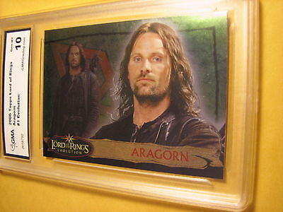 Aragorn 2006 Topps Lord Of The Rings Evolution # 1 Graded 10