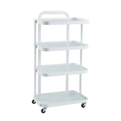 Beauty Salon Beauty Cart Spa Roller Machine Storage Cart - White