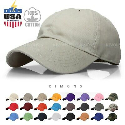 Baseball Cap Solid Plain men women Visor Ball Hat Dad Hat Cotton polo Washed