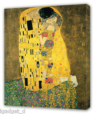 Gustav Klimt THE KISS CANVAS PRINT Home Wall Decor Art Giclee Painting DER KUSS