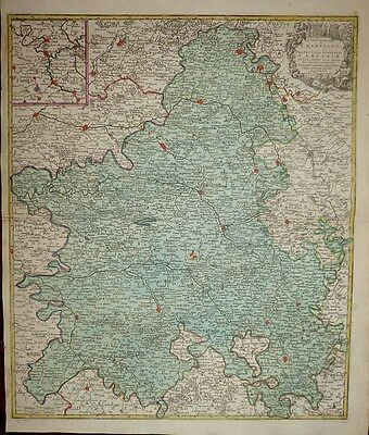 1756 Tobias Lotter Map CHAMPAGNE Reims Épernay Great Gift for the Oenophile!
