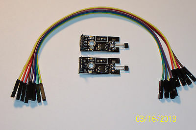 2 Pcs Of A Hall Effect Switch Sensor With Wires For Ard. Etc. , Brand New !!