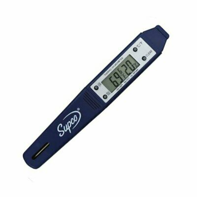 Supco THP2 Dual Display Thermo-Hygrometer Pen, -4 to 122 Degrees F