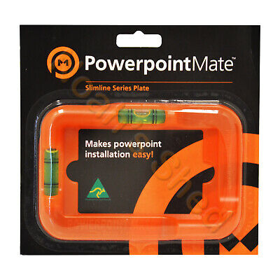 Power Point Mate GPO Electricians Level Cut Out Spirit Stencil Jig Template Tool