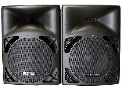 "Brand New 2 x 10"" 120W  Professional  PA/DJ Moulded  Passive Speaker PP2510/Pair"