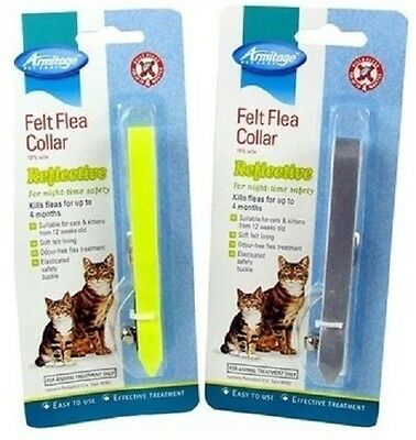 Armitage 2 Cat Kitten Reflective Flea Collar Kills Fleas Reduced Free Postage