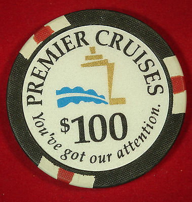 Premier Cruises Cruise Line $100 Casino Chip THE BIG RED BOAT Poker Token MINT