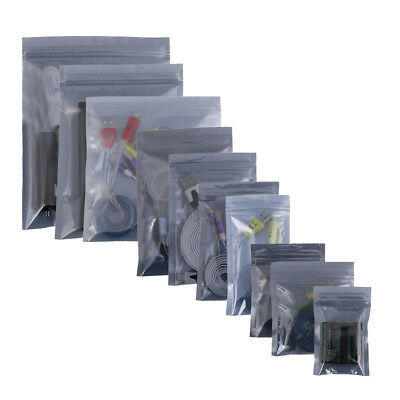 100pcs Zip Lock Anti-Static Shielding Desktop Accessories Bags 2.25x3.5in
