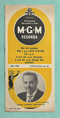 May 1956 Booklet Advertising New Releases On M.g.m. Records Billy Eckstine Etc