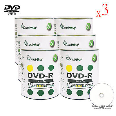 1800-Pack Smartbuy Blank DVD-R DVDR 16X 4.7GB White Top Storage Recordable Disc