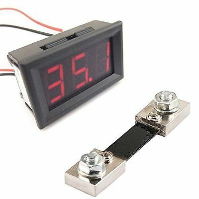 Red LED color DC Amp Current Meter Ammeter 0-100A with 100A/75mV shunt
