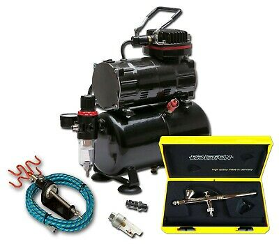Piston Compressor With Tank And Harder & Steenbeck Evolution Solo Airbrush Kit