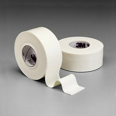 "3M MICROFOAM SURGICAL TAPE 1"" x 5 1/2yd WATER-RESISTANT BONDAGE 12 ROLLS #1528-1"