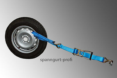 Auto Zurrgurt / Autotransport Spanngurt Radsicherung (6)