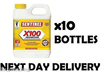 10x Sentinel X100 Central Heating System Inhibitor Multipack PLUMBING JOBLOT