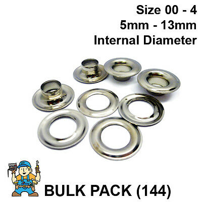 Nickel Plated Solid Brass Eyelets & Washers Bulk Pk (144 of each part)CS Osborne