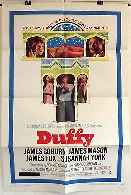 Duffy - James Coburn / James Fox / James Mason - Original Usa 1Sht Movie Poster