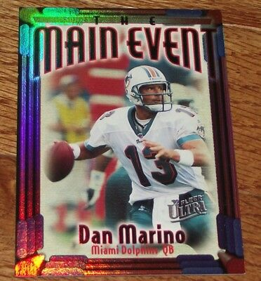 1997 Fleer Ultra The Main Event Insert #1 Dan Marino Miami Dolphins *A6