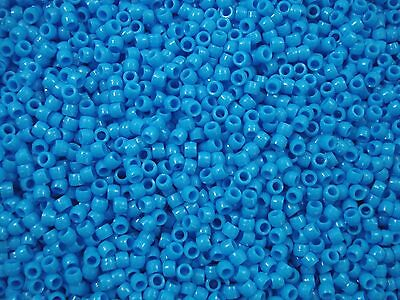 Pony Beads 1000pcs Blue 4x3mm Craft Jewellery Spacer Acrylic FREE POSTAGE