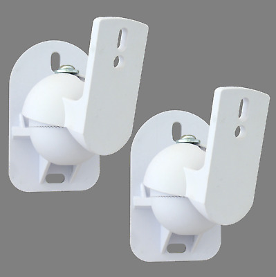 2 White Surround sound speaker wall brackets Universal
