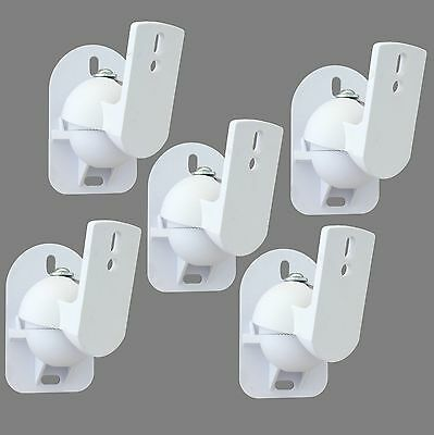 5 White Surround sound speaker wall brackets Universal
