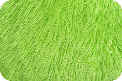 Lime Green Mongolian Faux Fur Photo Prop Newborn Nest 18 x 20 Inches Photography