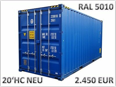 20` HC High Cube Seecontainer Lagercontainer Überseecontainer Baucontainer neu