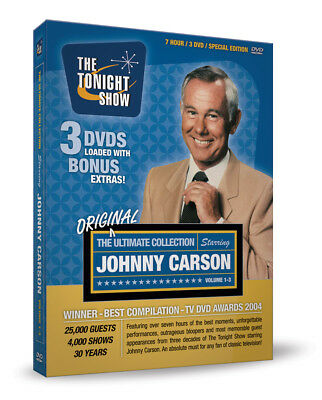 Johnny Carson Tonight Show Ultimate 3 DVD Box Set NEW