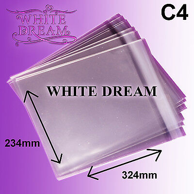 50 C4 / A4 Cello Bags for Greeting Cards | Clear Cellophane | Peel & Seal Bags