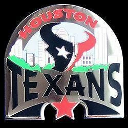 NFL metal pin badge HOUSTON TEXANS  new