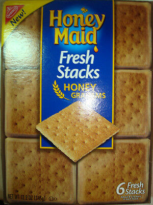 Honeymaid graham crackers 6 stay fresh stack packages- 2 boxes