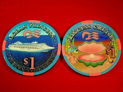 Princess Cruises OCEAN PRINCESS $1 Casino Chip Blackjack Poker Roulette Craps